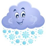 Winterwolken-Themabild 1 vektor abbildung