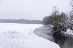 Winterwonderland στην Ολλανδία στοκ φωτογραφίες με δικαίωμα ελεύθερης χρήσης