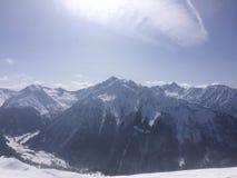 Winterwonderland. Austria Tirol fun Friends Royalty Free Stock Photos