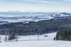 Winterwonderland em Áustria, cumes, Salzburg imagem de stock royalty free