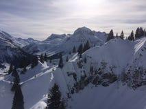Winterwonderland lech Tirol Österrike Arkivfoto