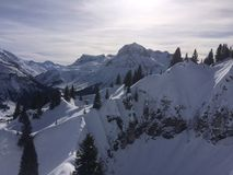 Winterwonderland lech Tirol Αυστρία Στοκ Εικόνες