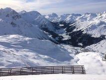 Winterwonderland lech Tirol Αυστρία Στοκ Φωτογραφίες