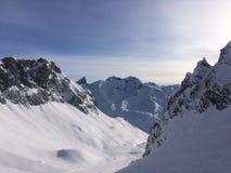 Winterwonderland lech Tirol Austria Obrazy Stock