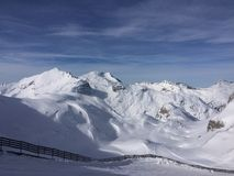 Winterwonderland lech Tirol Austria. Ski tourism friends fun Royalty Free Stock Photography