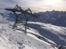 Winterwonderland lech Tirol Austria. Ski tourism friends fun Stock Photos