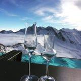Winterwonderland. Snow and skiing Stock Photos