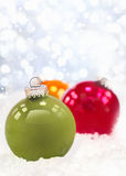 Wintery Christmas decorations Stock Photo