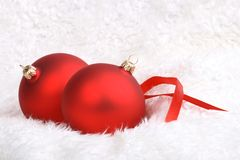 Wintery Christmas Decorations Stock Photography
