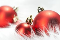Wintery Christmas Decorations Stock Image