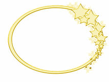 wintery gold star frame stock photos
