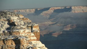Wintery Grand Canyon stock footage