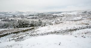 English Winter Landscape Scene Stock Photo
