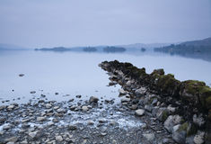 Wintery loch awe. Wintery shoreline of Loch Awe in Scotland Royalty Free Stock Image