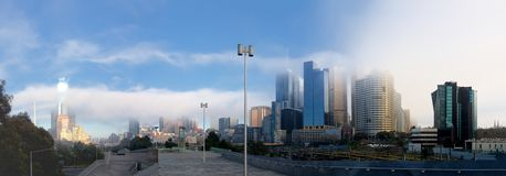 Wintery Melbourne Royalty Free Stock Photography