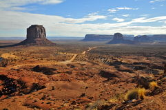 Wintery Monument Valley; partial overview Royalty Free Stock Images