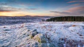 Wintery Moorland Stock Photo