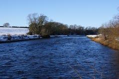 Wintery river annan Royalty Free Stock Photo