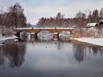 Stone bridge in Forsa - Hudiksvall royalty free stock photography
