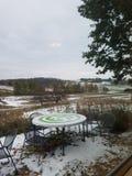 Wintery vineyard stock photos