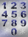 Winterzahlen Lizenzfreie Stockbilder