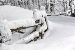 Winterzaun coolnest stockbild