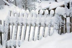 Winterzaunhaus Lizenzfreie Stockfotografie