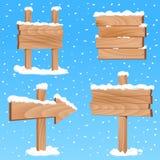 Winterzeichenvektor Lizenzfreies Stockfoto