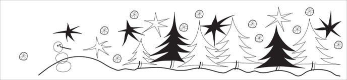 Winterzeile Stockbild