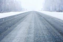 Winterzeile Stockfotos
