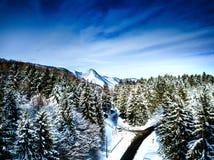 Winterzeit auf Zumberak-Hügeln nahe Samobor Kroatien Lizenzfreie Stockbilder