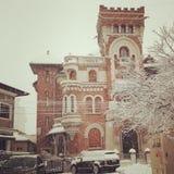 Winterzeit in Bukarest stockfoto