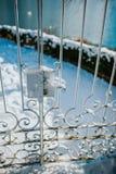 Winterzeit im Garten stockfotos