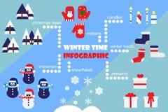 Winterzeit infographic Stockbilder