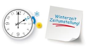 Winterzeit Zeitumstellung απεικόνιση αποθεμάτων