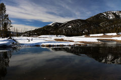 Winterzeitbild in Yellowstone Nationalpark Stockbilder