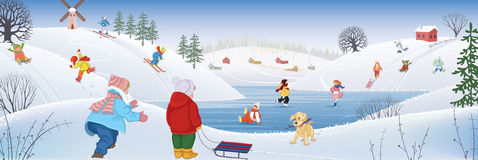Winterzeitvertreib Lizenzfreies Stockfoto