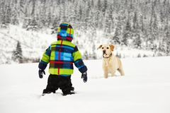Wintry adventure Stock Image