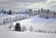Wintry black forest. Look on wintry black forest landscape Stock Photos