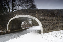 Wintry Bridge Royalty Free Stock Image