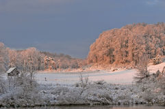 Wintry countryside landscape Stock Photography