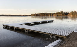 Wintry day at beach after frosty night in Finland Royalty Free Stock Image