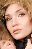 wintry flicka Arkivbild