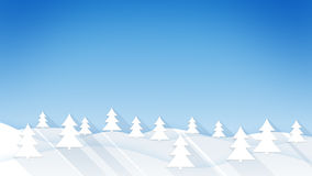 Wintry forest flat style illustration. Wintry forest. flat style illustration with long shadow Stock Images