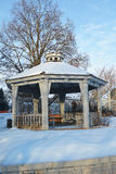 Wintry Gazebo 2 Stock Image