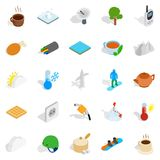 Wintry icons set, isometric style. Wintry icons set. Isometric set of 25 wintry vector icons for web isolated on white background Royalty Free Stock Photo