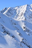 Wintry Japan Alps Near Hakuba, Nagano Royalty Free Stock Photos