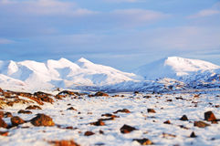 Wintry landscape from Iceland Stock Photography