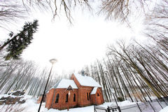 Wintry landscape in Poland Stock Image