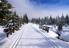 Wintry landscape scenery Stock Photos